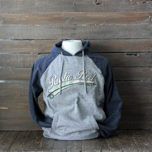 craft beer apparel rustic reel blue mens hoodie