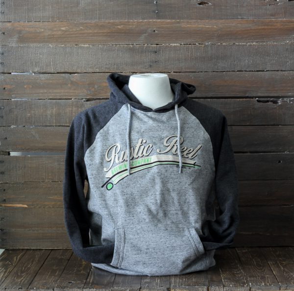 craft beer apparel rustic reel grey mens hoodie