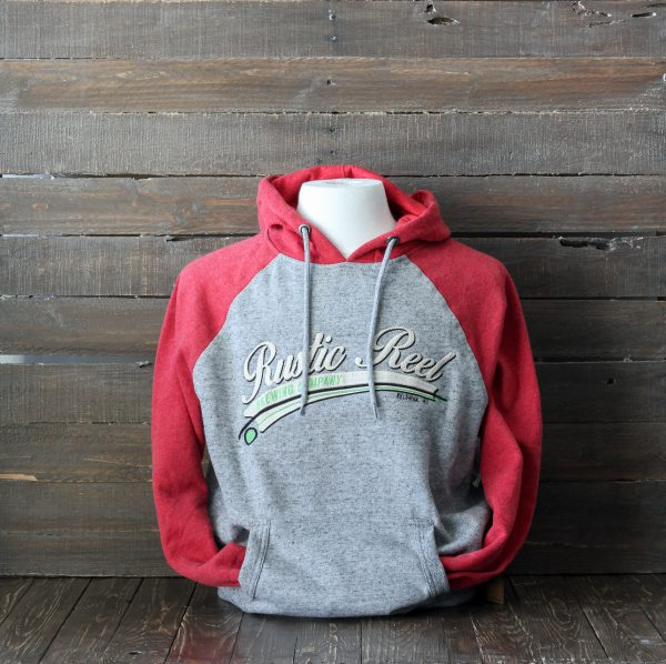 craft beer apparel rustic reel red mens hoodie