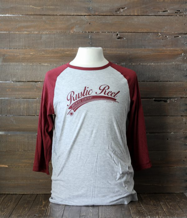 craft beer apparel rustic reel red baseball shirt