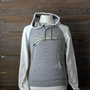 craft beer apparel rustic reel white ladies hoodie